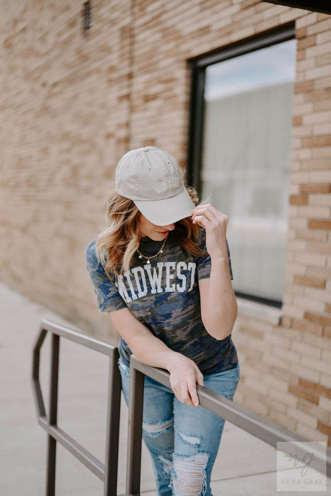 Midwest Vintage Camo Tee-Nora Gray Boutique