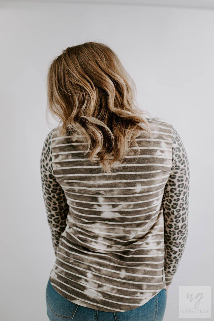 Tie Dye Leopard Pocket Tee-Nora Gray Boutique