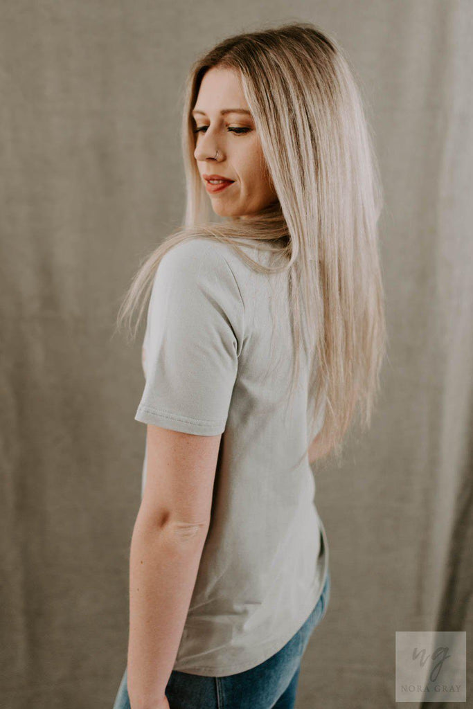 Wander Embroidered Graphic Tee-Nora Gray Boutique