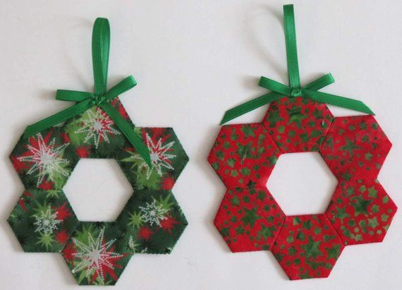 english paper pieced wreaths