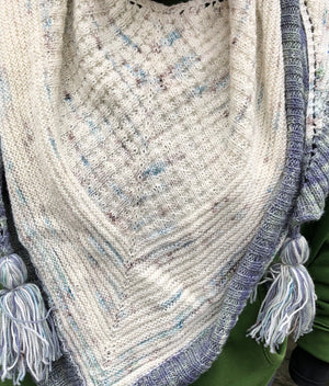 KNITFLIX & CHILL SHAWL KIT - multi skein yarn kit, Toad Hollow Yarns