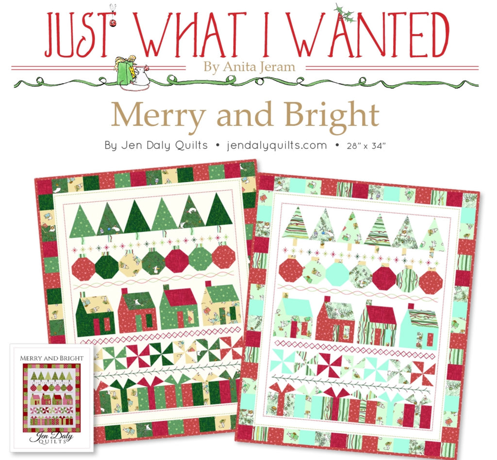 MERRY & BRIGHT QUILT KIT, Just What I Wanted Fabrics Toad Hollow Fabrics