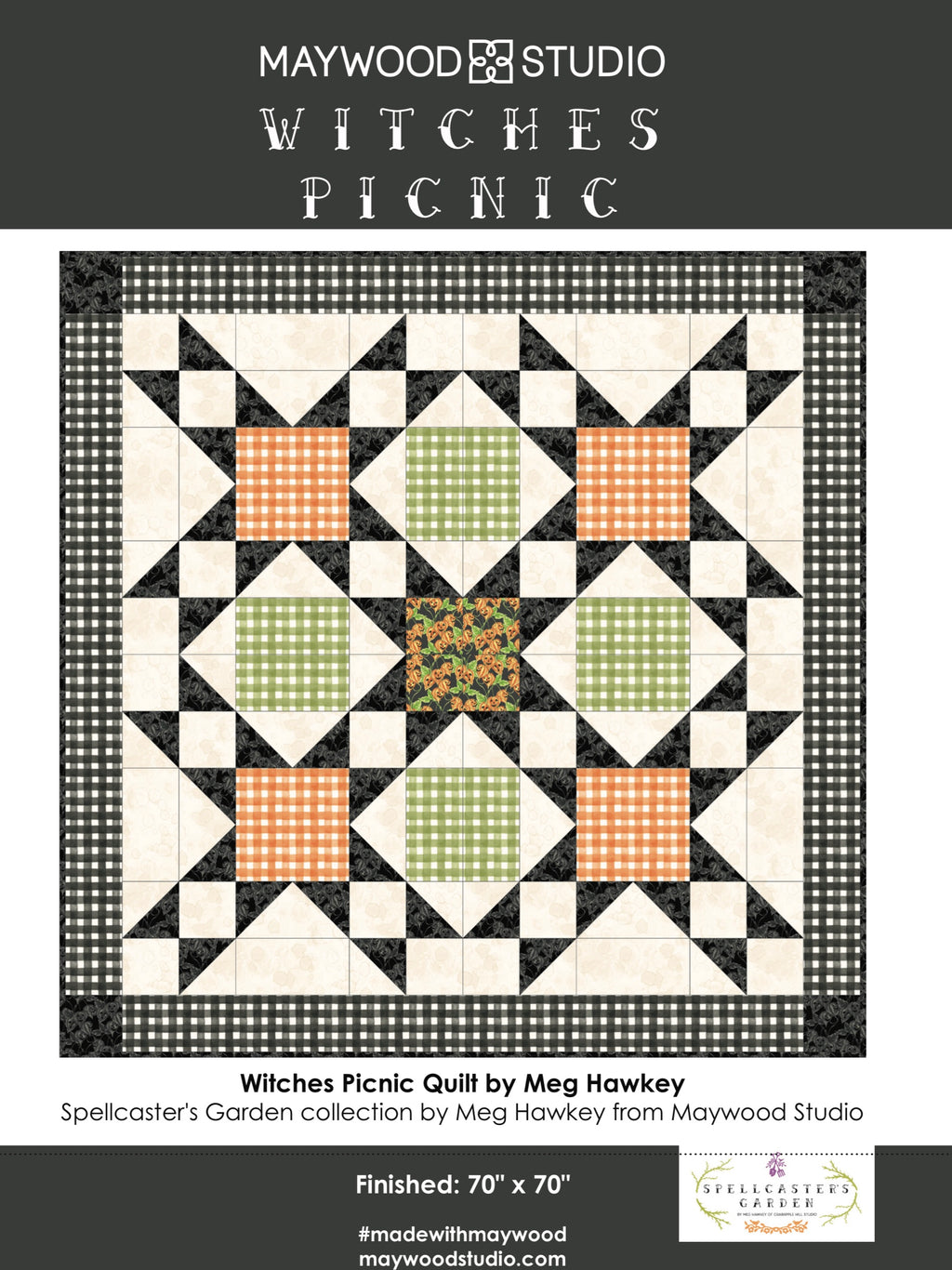 WITCHES PICNIC QUILT KIT, Toad Hollow Fabrics
