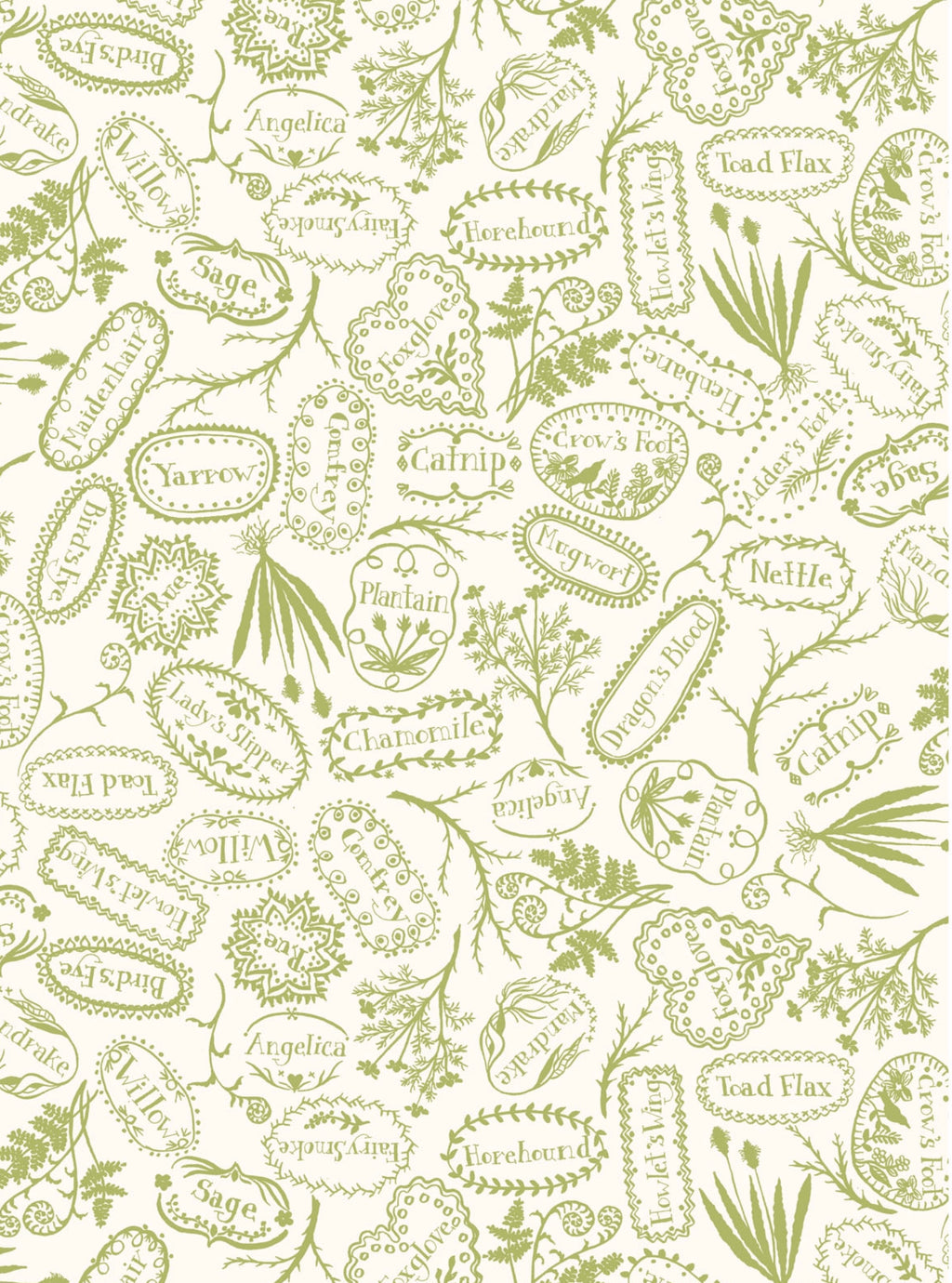 PLANT MARKERS - GREEN from the Spellcasters Garden Fabric Line, Toad Hollow Fabrics