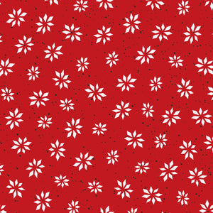 RED SNOWFLAKE STAR from Warm Wishes Fabric Line, Toad Hollow Fabrics