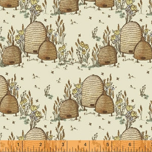 TELL THE BEES - Beehive - by Windham Fabrics, 100% Cotton, Toad Hollow Fabrics