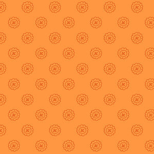 SINGLE BUTTON - ORANGE from the Spellcasters Garden Fabric Line, Toad Hollow Fabrics