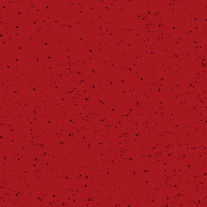 DEEP RED Speckled Solid from Warm Wishes Fabric Line, Toad Hollow Fabrics