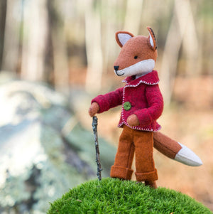 FELIX THE FOX kit - Wool Felt kit, Toad Hollow Fabrics
