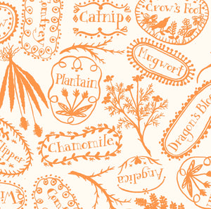 PLANT MARKERS - ORANGE from the Spellcasters Garden Fabric Line, Toad Hollow Fabrics