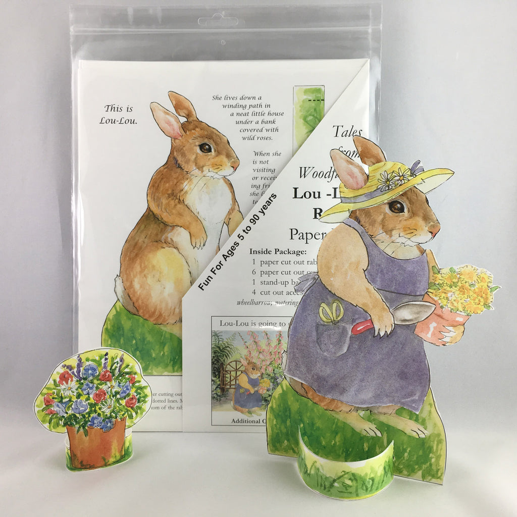 LOU-LOU RABBIT PAPER DOLL KIT from Woodfield Press Toad Hollow Paper