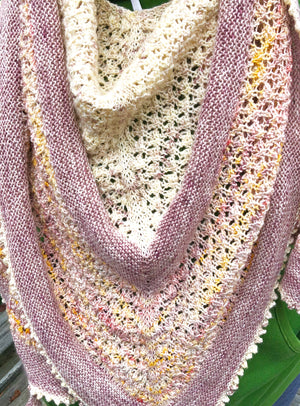 LUNARIA SHAWL KIT - multi skein yarn kit, Toad Hollow Yarns