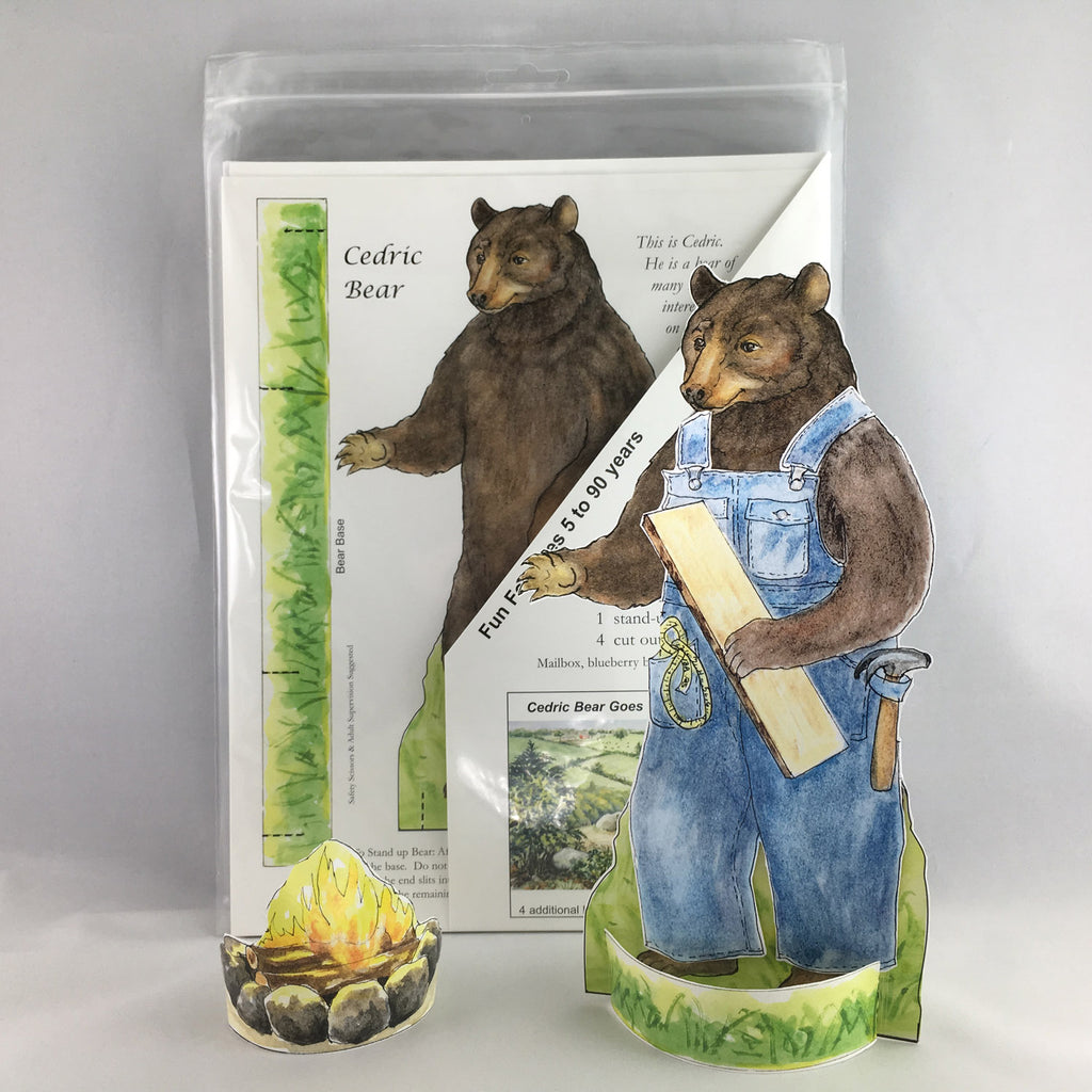 CEDRIC BEAR PAPER DOLL KIT from Woodfield Press Toad Hollow Paper