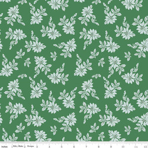SANTA CLAUS LANE POINSETTIAS GREEN - from Riley Blake Designs, Toad Hollow Fabrics