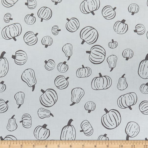 SCAREDY CAT PUMPKIN PATCH - GRAY from the Scaredy Cat Fabric Line for Riley Blake Designs, Toad Hollow Fabrics