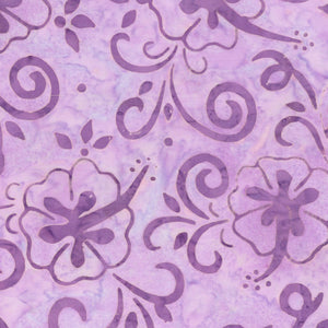 LOTUS FLOWERS from the Coastal Getaway Batiks Fabric Line, Toad Hollow Fabrics