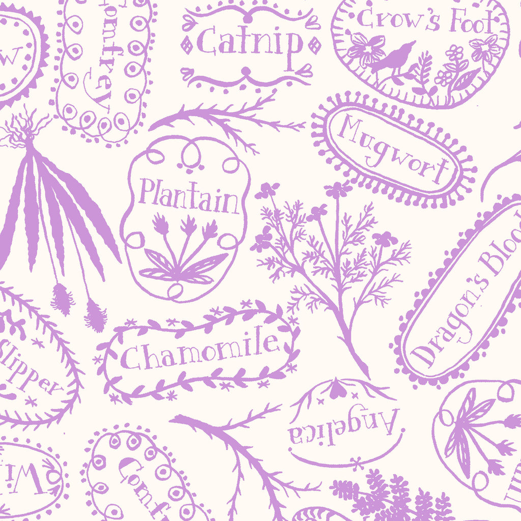 PLANT MARKERS - PURPLE from the Spellcasters Garden Fabric Line, Toad Hollow Fabrics