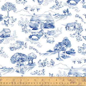 ENGLISH GARDEN - Farm Toile, by Windham, 100% Cotton, Toad Hollow Fabrics