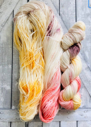 GOLDFINCH Sock from The Lost Words collection,Hand Dyed Yarn,Toad Hollow Yarns