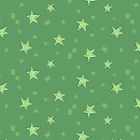 STARRY NIGHT in Green from the Just What I Wanted Fabric Line, Toad Hollow Fabrics