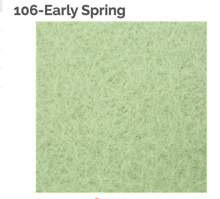 EARLY SPRING - 100% Wool Felt from Barefoot Fibers, 8x12 sheet, Toad Hollow Fabrics