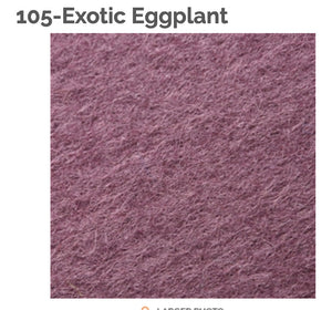EXOTIC EGGPLANT - 100% Wool Felt from Barefoot Fibers, 8x12 sheet, Toad Hollow Fabrics
