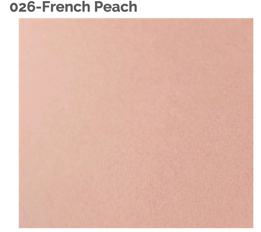 FRENCH PEACH - 100% Wool Felt from Barefoot Fibers, 8x12 sheet, Toad Hollow Fabrics