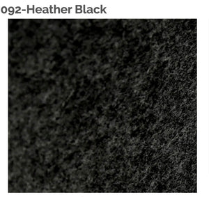 HEATHER BLACK - 100% Wool Felt from Barefoot Fibers, 8x12 sheet, Toad Hollow Fabrics