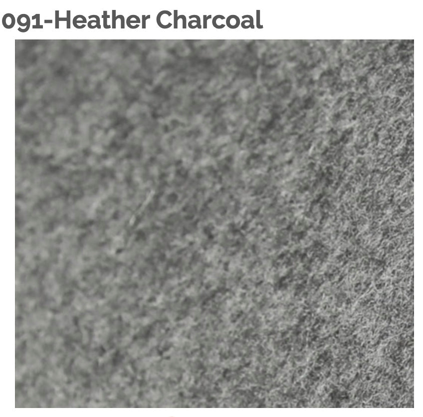 HEATHER CHARCOAL - 100% Wool Felt from Barefoot Fibers, 8x12 sheet, Toad Hollow Fabrics