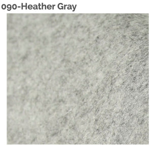 HEATHER GREY- 100% Wool Felt from Barefoot Fibers, 8x12 sheet, Toad Hollow Fabrics