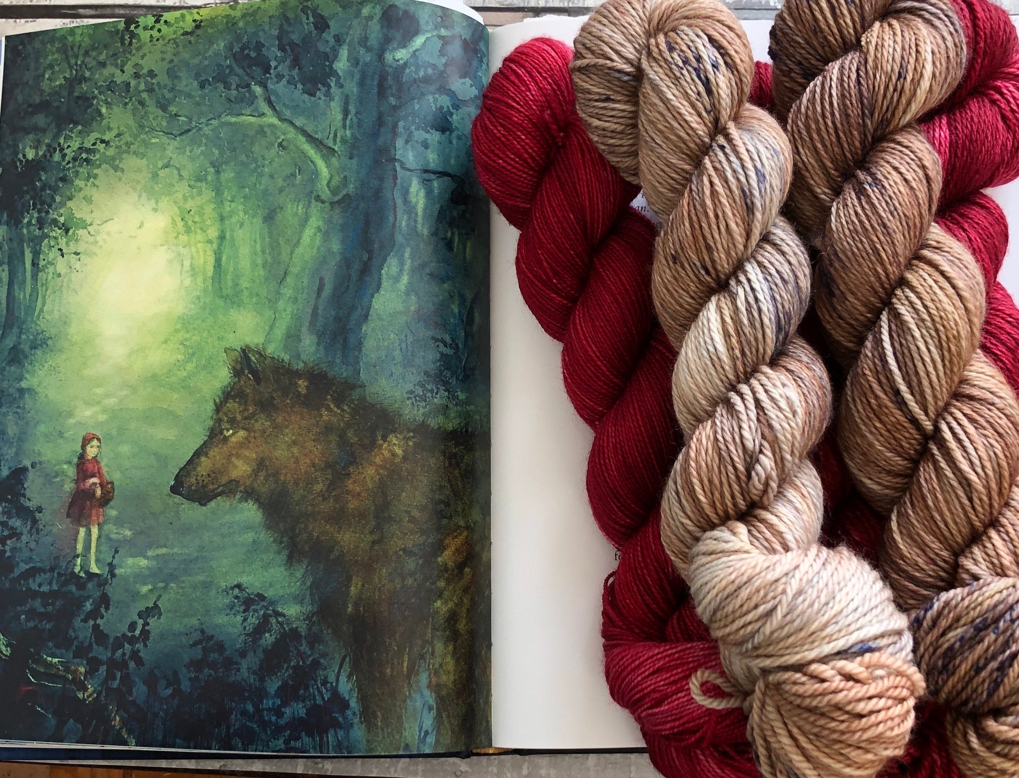 WOLF from our Toad Hollow Fairy Tale collection,Little Red Riding Hood, Toad Hollow Yarns