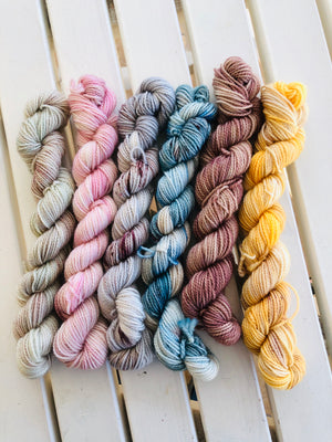 PRINCESS BRIDE COLLECTION  Mini Skein Set, Hand Dyed Yarn