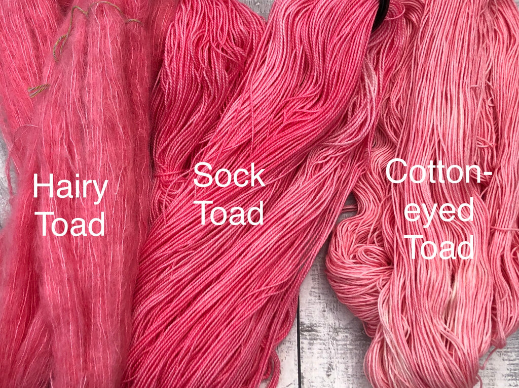 JOY Hand Dyed Yarn, Toad Hollow yarns