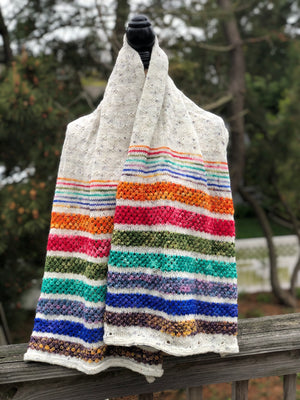 HI HO SHAWL Kit, Hand Dyed Yarn, Multi Skein Yarn Kit, Indie Dyed Yarn, Toad Hollow yarns
