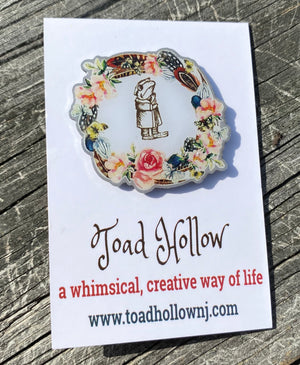 Toad Hollow Logo Enamel Pin