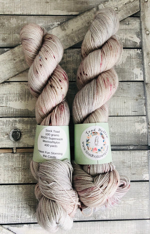 HAVE FUN STORMING THE CASTLE, The Princess Bride Hand Dyed Superwash Merino Yarn,Toad Hollow Yarns