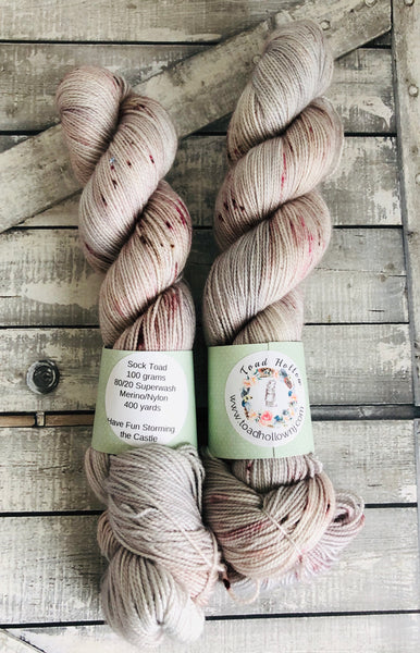 HAVE FUN STORMING THE CASTLE, The Princess Bride Hand Dyed Superwash Merino Yarn,Sock Toad