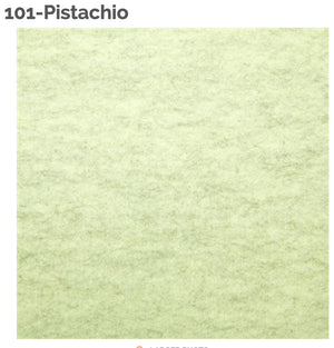 PISTACHIO - 100% Wool Felt from Barefoot Fibers, 8x12 sheet, Toad Hollow Fabrics