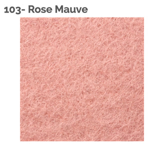 ROSE MAUVE- 100% Wool Felt from Barefoot Fibers, 8x12 sheet, Toad Hollow Fabrics