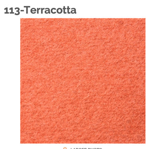 TERRACOTTA - 100% Wool Felt from Barefoot Fibers, 8x12 sheet, Toad Hollow Fabrics