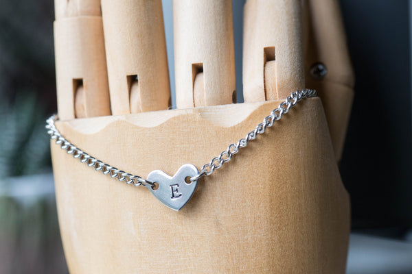 Heart Initial - Bracelet/Choker/Necklace
