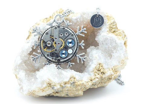 Clockwork Snowflake Necklace