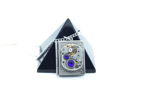 Clockwork Book Locket