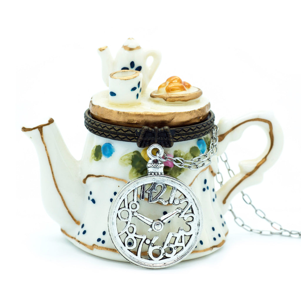 """You're Late For Tea!"" Necklace"