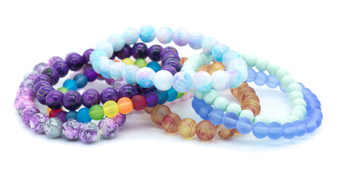 Glass Bead Bracelets (9 colours!)