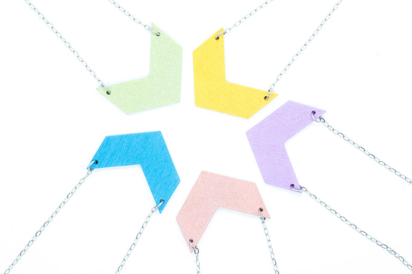 Colourful Chevron Necklaces
