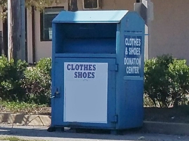 Clothing Donation Recepticle