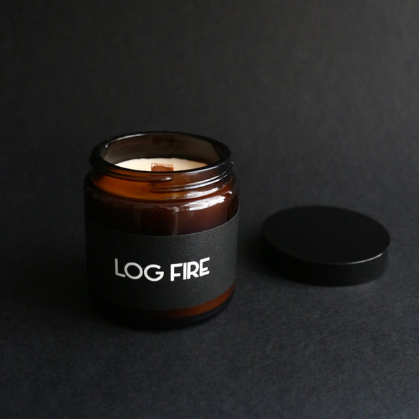 Log Fire - Rapeseed Wax Candle