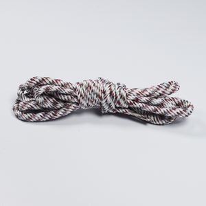 "47"" Braided Knit Rope Shoe Laces - white_multicolor"