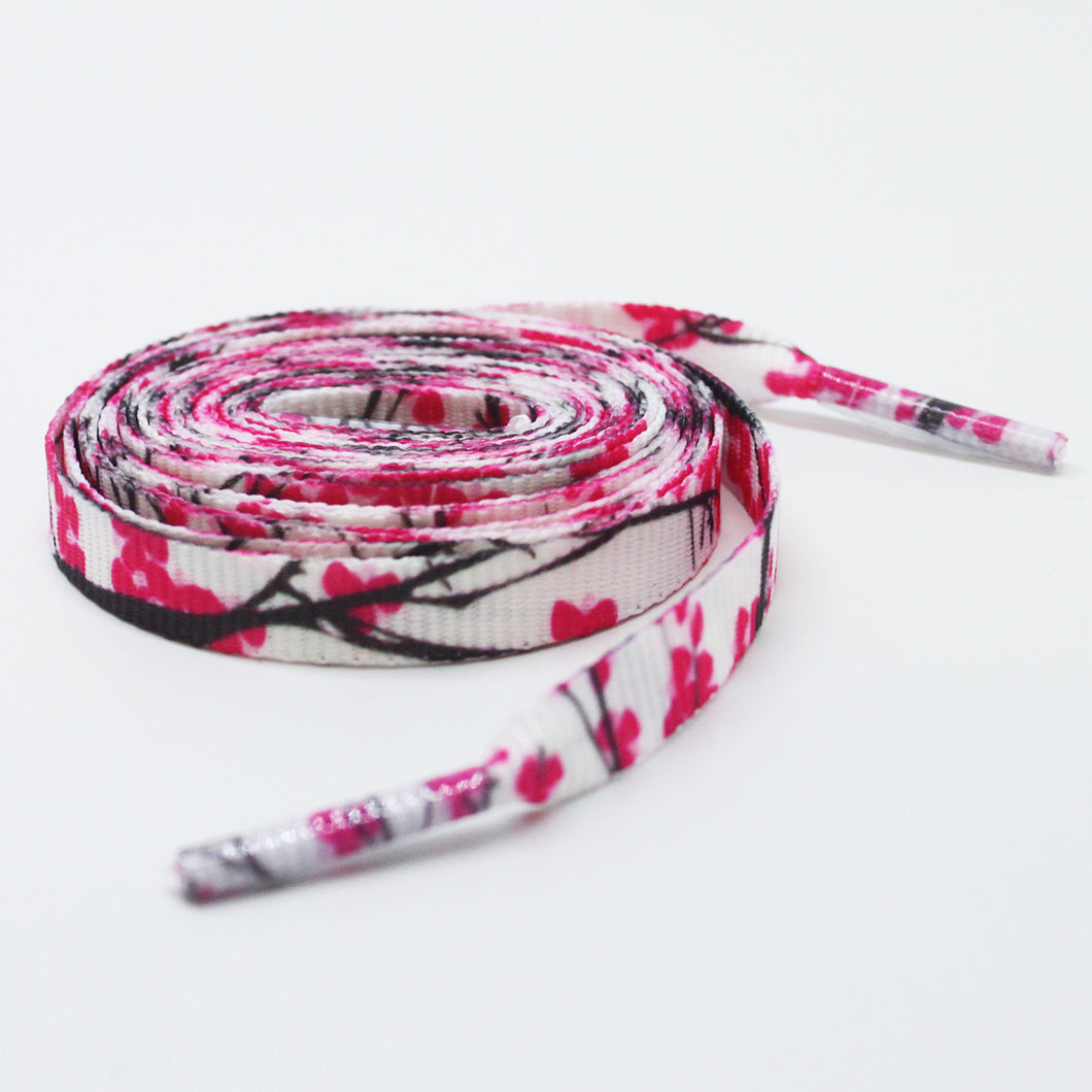 Cherry Blossom Flat Shoelaces